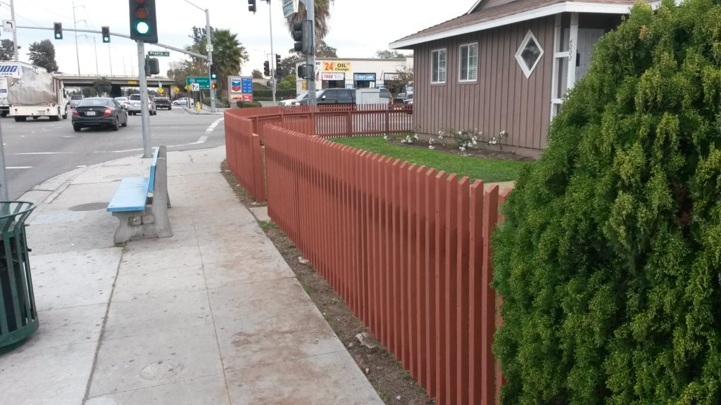 Front Yard Custom Wood Fence + Gate, Torrance 90504, built by WoodFenceExpert.com