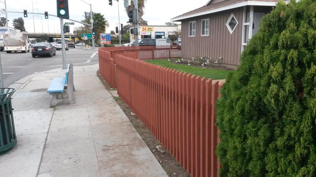 Front Yard Custom Wood Fence + Gate, Torrance 90504, built by WoodFenceExpert.com