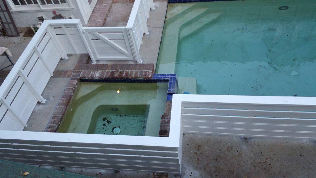 Custom Horizontal Wood Fence + Gates Pool Enclosure, Beverly Hills 90210, built by WoodFenceExpert.com