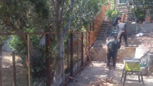 Custom Horizontal Wood Fence + Gates, Los Angeles 90043, building by WoodFenceExpert.com